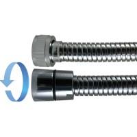 """Flexible Antitorsion métal Double Agrafage """" STEELEX """" - Ecrous Laiton"""
