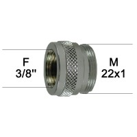 Adaptateur Robinet - Laiton Chromé - F3/8'' à M22x100 - Ecoperl