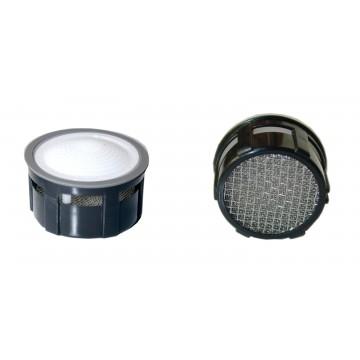 Mousseur aérateur 10 litres F22/M24 - Eco 33% - Recharge - Grille inox