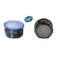 Mousseur aérateur grille inox - Recharge 22/24x100 - 8 litres/min. - Aéré - NF