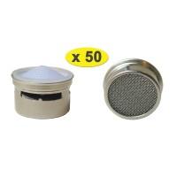 Lot de 50 Mousseurs métallique 6 litres F22/M24 - Eco 60% - Recharge