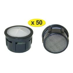 Lot de 50 Mousseurs Baignoire F26/M28 - Recharge - Grille inox - NF EN 246