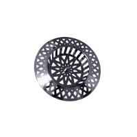 Tamis évier cuisine - PVC chromé - Design étoile - diamètre 70 mm
