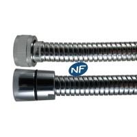 """Flexible NF métal Double Agrafage """" STEELEX """" 1,50m - Ecrous Laiton"""