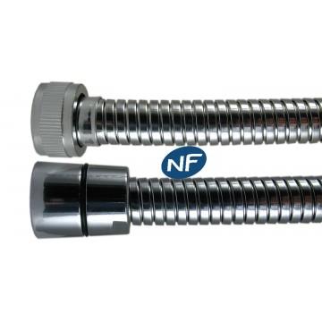 """Flexible NF métal 1.50 m - Double Agrafage """" NORMALEX """" - Ecrous Laiton"""