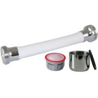 Mousseur flexible orientable 4,5 litres F22x100 - Eco 70% - Blanc