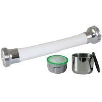 Mousseur flexible orientable 6 litres F22x100 - Eco 60% - Blanc
