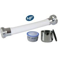 Mousseur flexible orientable 8 litres F22x100 - Eco 47% - Blanc