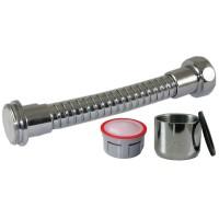 Mousseur flexible orientable 4,5 litres F22/M24x100 - Eco 70% - Laiton chromé