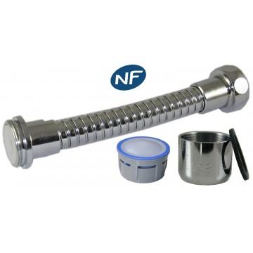 Mousseur flexible orientable 8 litres F22/M24x100 - Eco 47% - Laiton chromé - NF