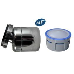 Mousseur orientable 8 litres M24x100 - Eco 47% - Aéré - Rotule mâle - NF EN 246