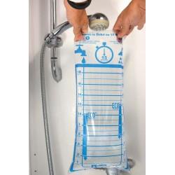 Sac débimètre souple pour douche et robinet - 1 à 18 litres/min.