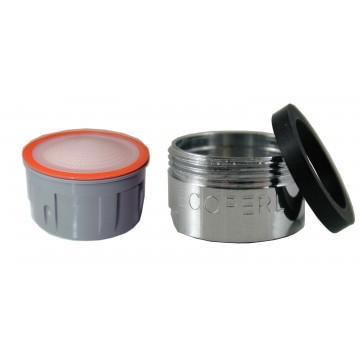 Mousseur sans air 2,5 lit - M24x100 - Eco 83% - Bague Mâle - Anticalcaire
