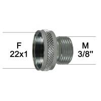 Adaptateur Robinet - Laiton Chromé - F22x100 à M3/8'' - Ecoperl