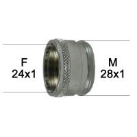 Adaptateur Robinet - Laiton Chromé - F24x100 à M28x100 - Ecoperl