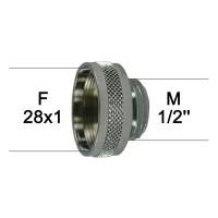 Adaptateur Robinet - Laiton Chromé - F28x100 à M1/2'' - Ecoperl