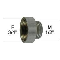 Adaptateur raccord Laiton - F20x27 (3/4'') à M15x21 (1/2'') - Ecoperl