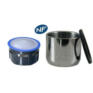 Mousseur aérateur 8 litres - F22x100 - Eco 47% - Bague Femelle - Grille inox - NF EN 246
