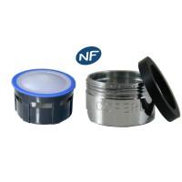 Mousseur aérateur 8 litres - M24x100 - Eco 47% - Bague Mâle - Grille inox - NF EN 246