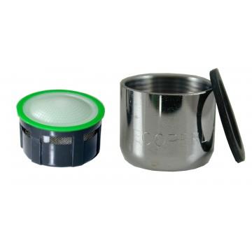 Mousseur aérateur 6 litres - F22x100 - Eco 60% - Bague Femelle - Grille inox