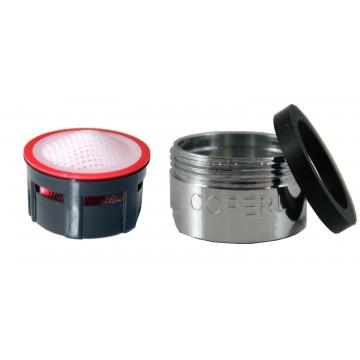 Mousseur aérateur 4,5 litres - M24x100 - Eco 70% - Bague Mâle - Grille inox