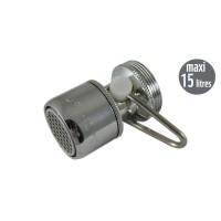Mousseur débit variable maxi 15 litres M24/F22 - Filetage Universel F22/M24  - Aéré