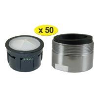 Mousseur aérateur Baignoire M28 - Eco 47% - Mâle - Grille inox - NF EN 246