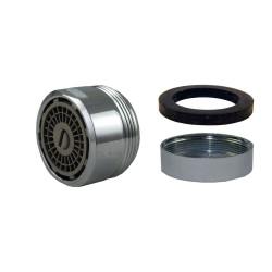 Mousseur aérateur débit AJUSTABLE - Maxi 8 litres/min. - 24x100 - Bague Mâle