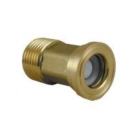 Clapet antiretour Vissable/Clipsable - Hexagonal - Laiton brut - 15x21 FM