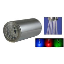 Régulateur de Jet à LED Température - Pluie - 8 litres/min. - Laiton - F22x100 + Adaptateur M24