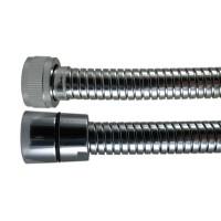 """Flexible douche métal Double Agrafage """" STEELEX """" 2,00m - Ecrous Laiton"""