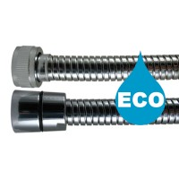"""Flexible douche Eco métal 2,00 m - Double Agrafage """" STEELEX """" - Ecrous Laiton"""