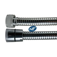 """Flexible NF métal Double Agrafage """" STEELEX """" 1,75m - Ecrous Laiton"""