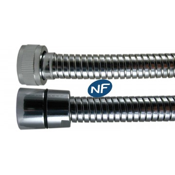 """Flexible NF métal 2.00 m - Double Agrafage """" NORMALEX """" - Ecrous Laiton"""