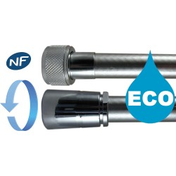 """Flexible Eco satiné 1.75 m Antitorsion """" SATINEX """" - Ecrous Laiton - NF"""