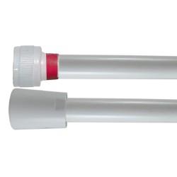 Flexible PVC Lisse 1.20 m - Blanc Collerette Rouge - Usage Unique - Qualité Alimentaire - Ecrous ABS blancs