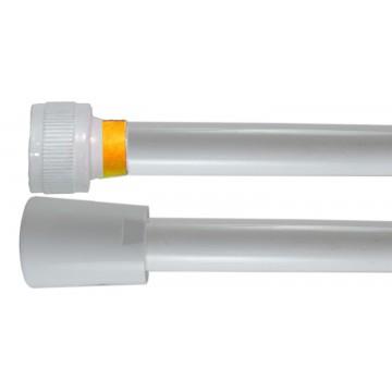 Flexible PVC Lisse 1.50 m - Blanc Collerette Jaune - Usage Unique - Qualité Alimentaire - Ecrous ABS blancs
