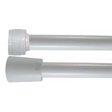 Flexible PVC Lisse 2.00 m - Blanc - Usage Unique - Qualité Alimentaire - Ecrous ABS blancs