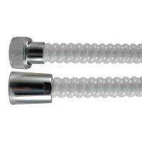 """Flexible PVC Annelé """" GRINDFLEX """" - Antipliure - Blanc - Ecrous Laiton - 1,75 m"""