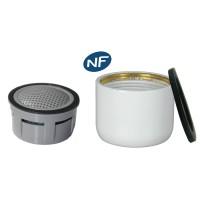 Mousseur aérateur NF bague Blanche - Anticalcaire - F22x100