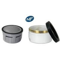 Mousseur aérateur NF bague Blanche - Anticalcaire - M24x100