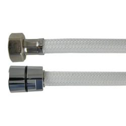 Flexible Haute Pression 1,00 m PRESFLEX - Tressé Blanc Nylon Chevron - Ecrous Laiton