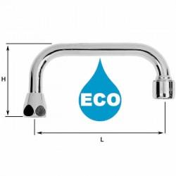 Bec poignée 1/2'' Eco - H80 / L150 mm - Portée plate - 8 litres/min. - Tube 14 - NF EN 246