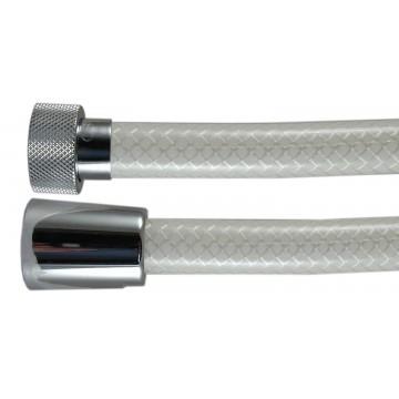 """Flexible Renforcé Lave-bassin """" ARMEX """" - Blanc lisse - Qualité Médical - Ecrous Laiton - 1,50 m"""