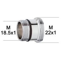 Adaptateur raccord Laiton - M18.5x100 à M22x100