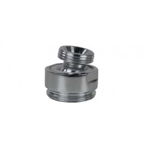 Rotule aérateur M16x100 Chrome orientable 360° - M22 - Laiton