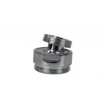 Rotule aérateur M18x100 Chrome orientable 360° - M22 - Laiton