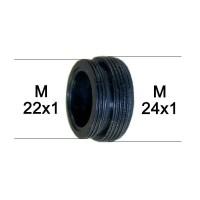 Adaptateur bague Robinet - ABS noir - M22x100 à M24x100 - Ecoperl
