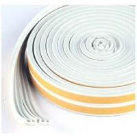 Joint d'isolation en E pour Fenêtres et Portes - Blanc - 2 à 3.5mm - 6m (2 x 3m)