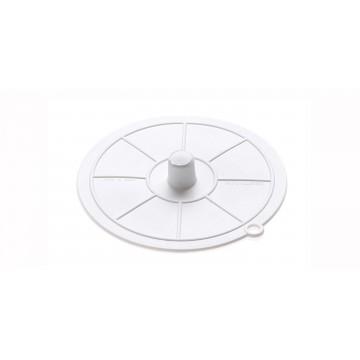 Bouchon d'évier souple blanc occultant - Diamètre 95 mm